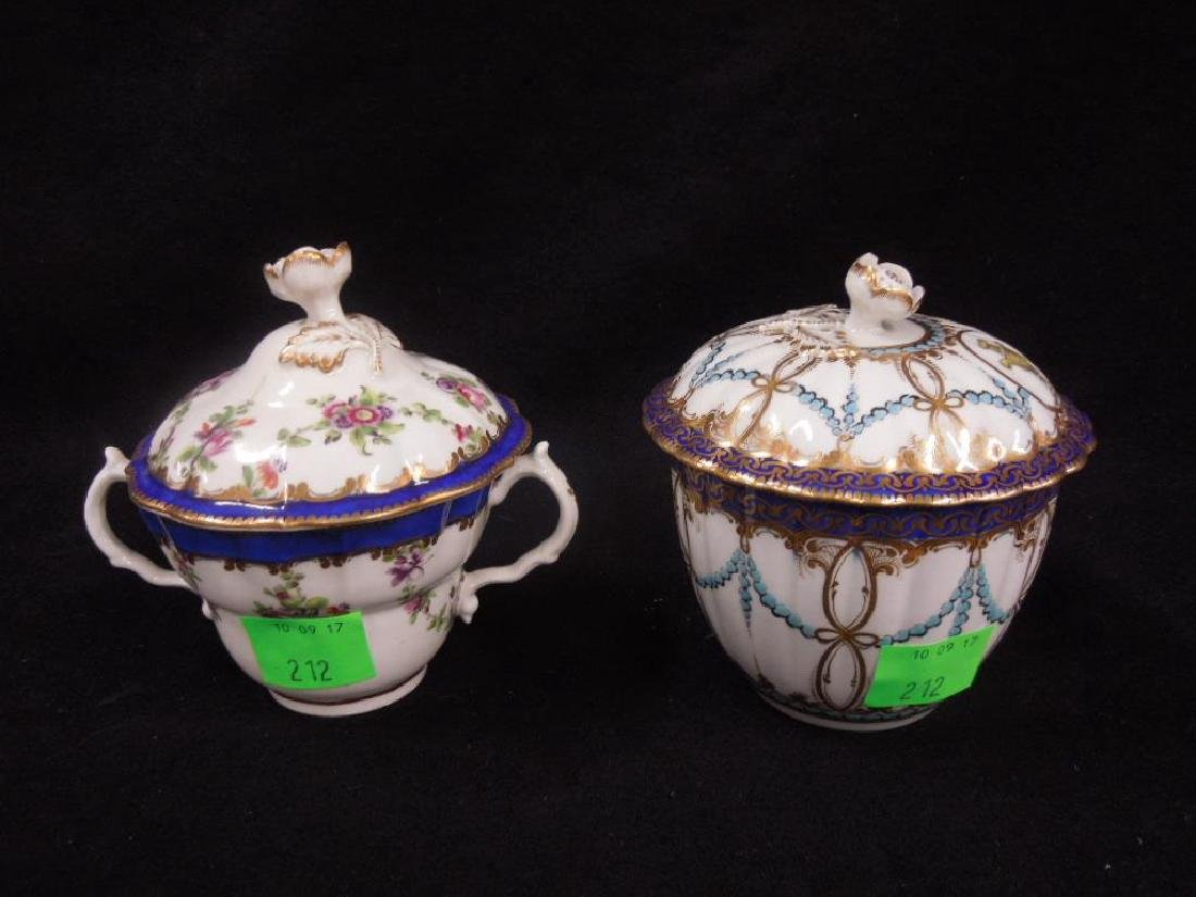 Two Caughley Sugar Bowl & Trembleuse Cup