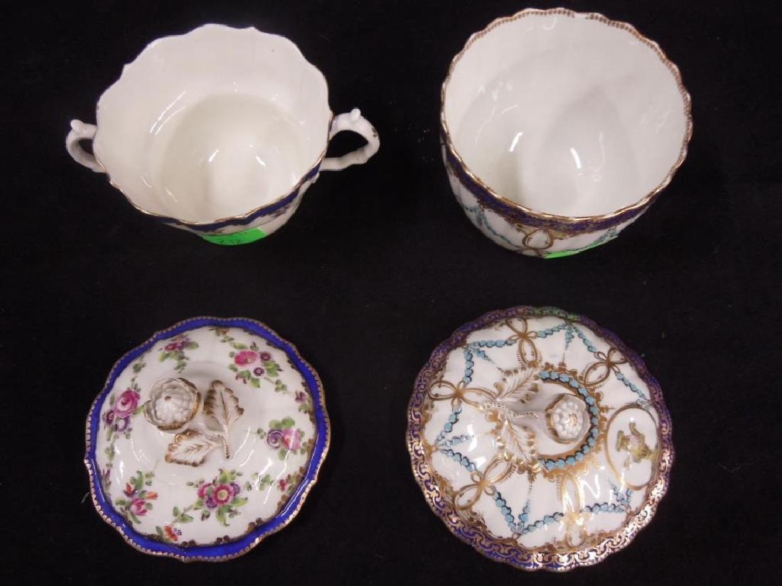 Two Caughley Sugar Bowl & Trembleuse Cup - 4