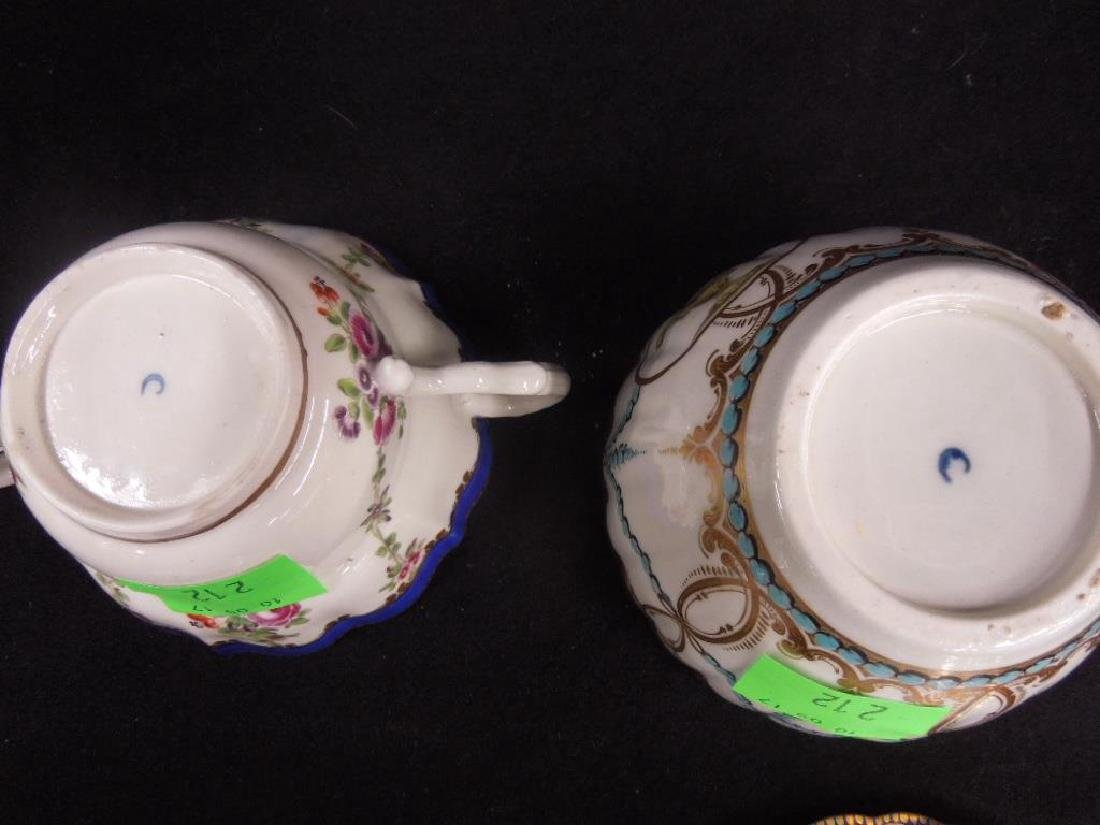 Two Caughley Sugar Bowl & Trembleuse Cup - 8