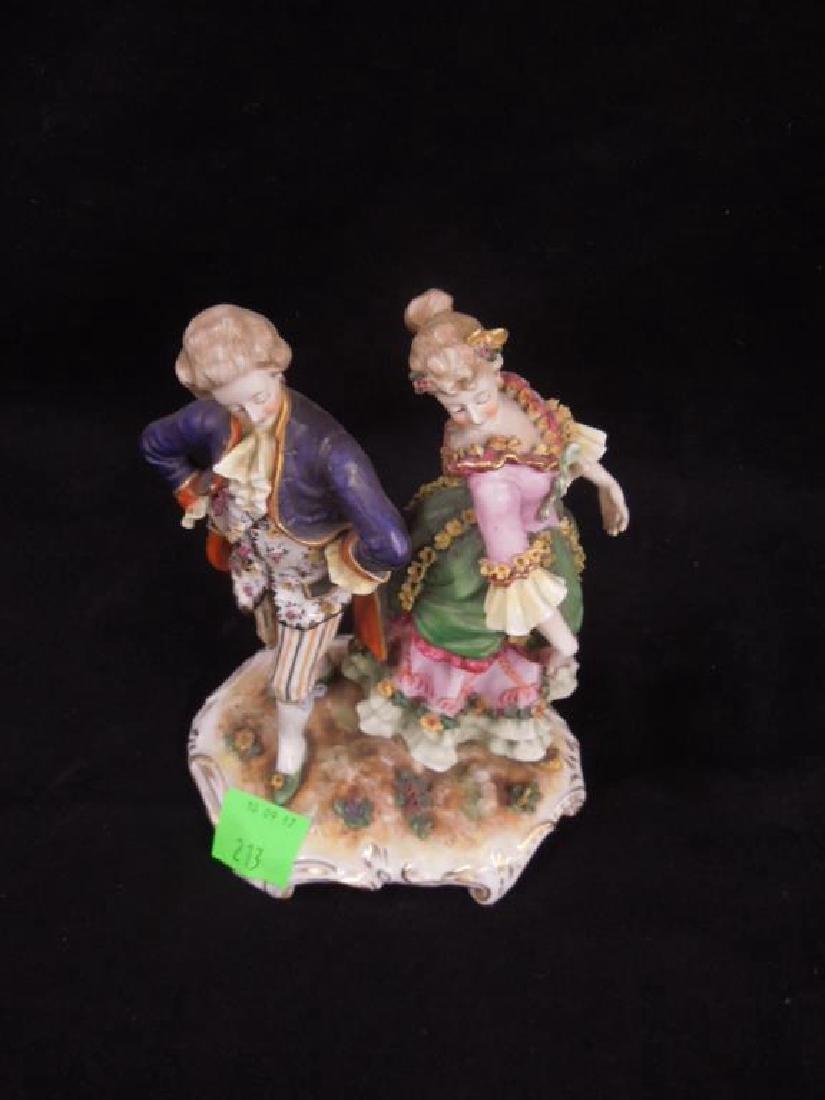 19th C. Porcelain Figure Group - 2