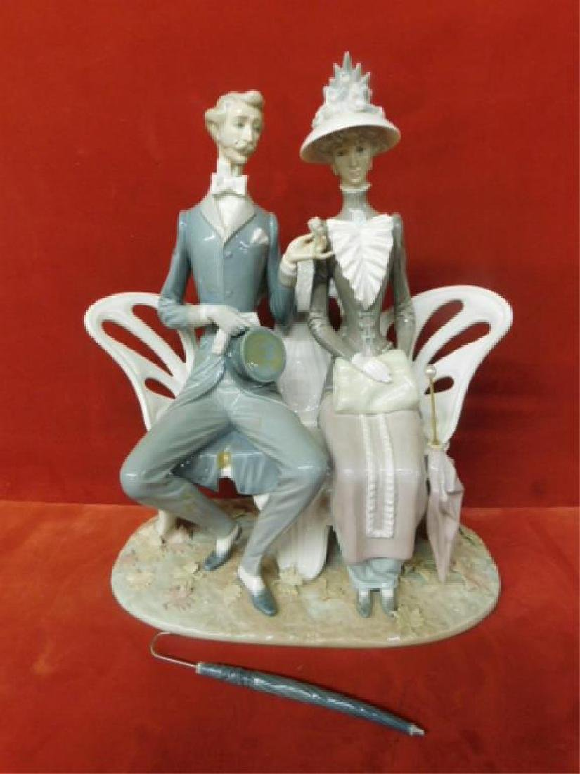 Lladro Lovers in the Park Figure