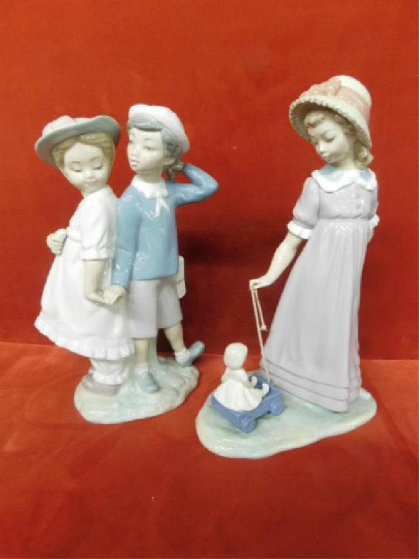 2 Lladro Porcelain Children Figures