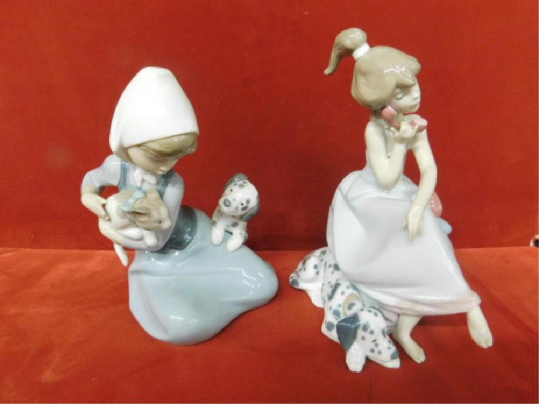 2 Lladro Porcelain Children Figures