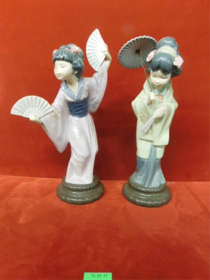 2 Lladro Porcelain Asian Figures