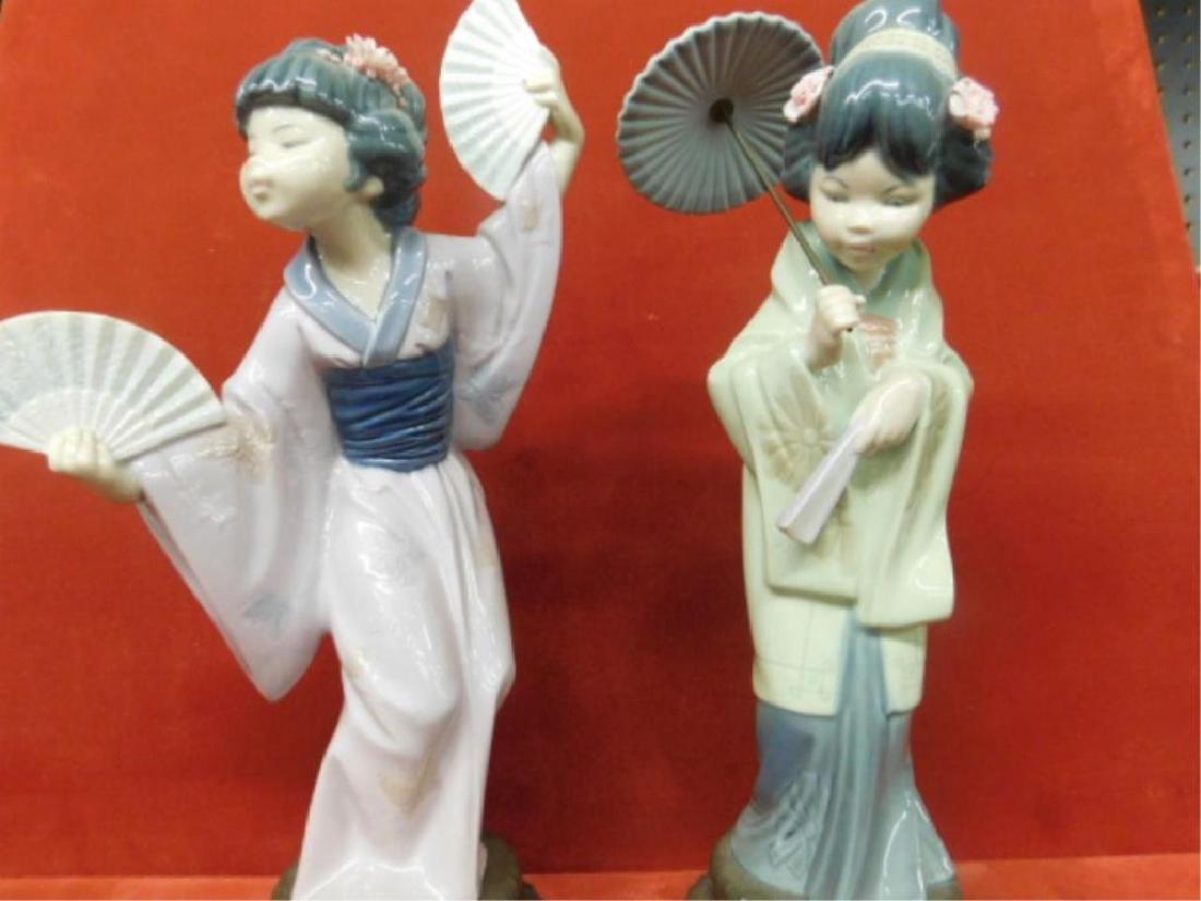 2 Lladro Porcelain Asian Figures - 2
