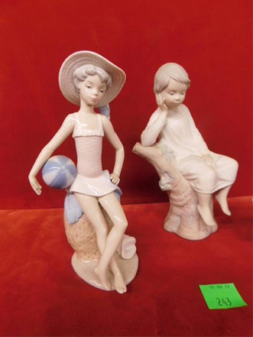 3 Lladro Porcelain Children Figures - 2