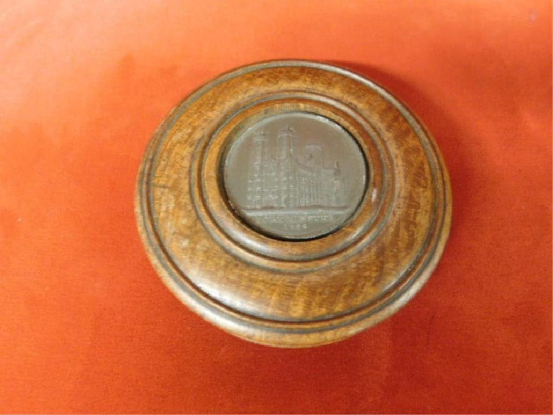 Treen Box with Medal