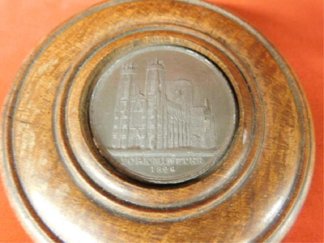 Treen Box with Medal - 2