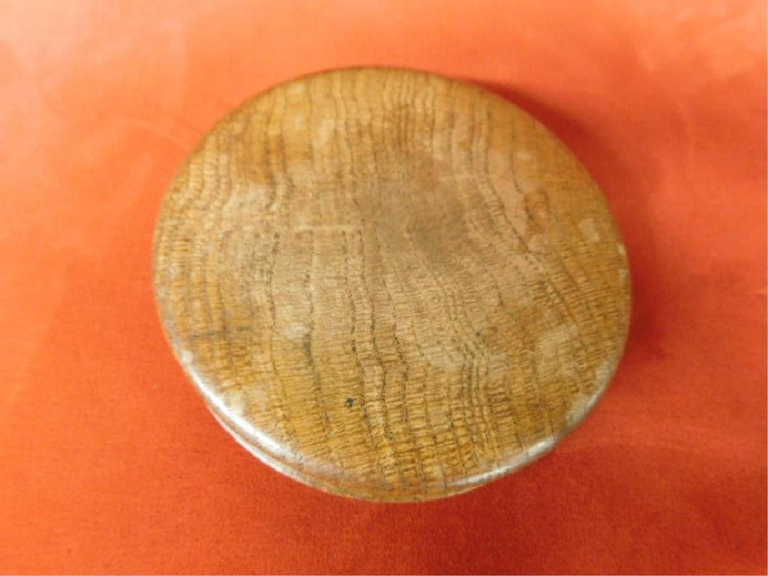 Treen Box with Medal - 3