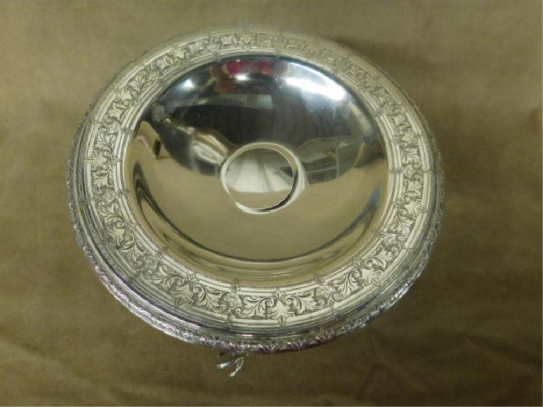 Wallace Sterling Compote & Tongs - 2