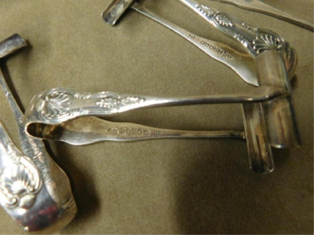 Silverplated Sugar & Pastry Tongs Suite - 4