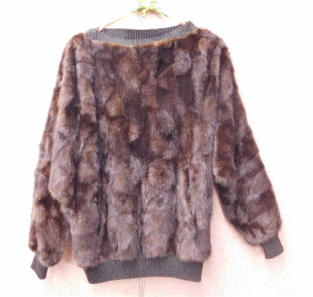 Dark Mink Ladies Pullover Sweater