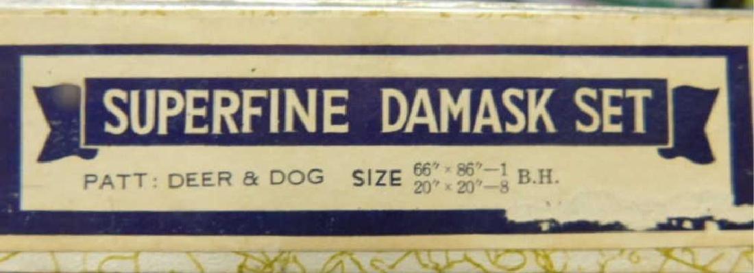 Vintage Damask Table Set - 7