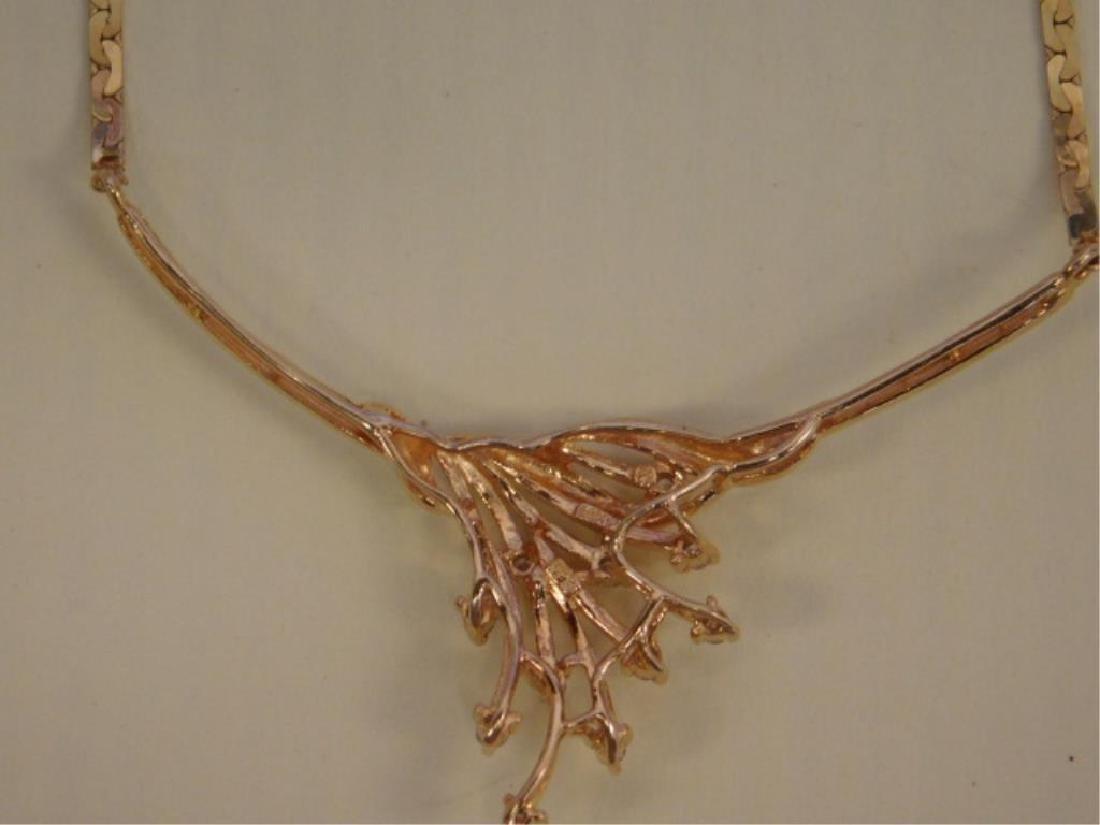 14k YG Necklace w/Diamond Festoon - 2