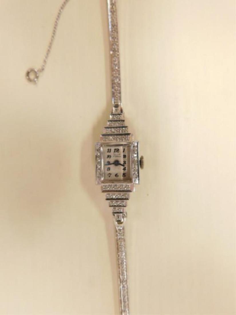 14K WG Diamond Wristwatch