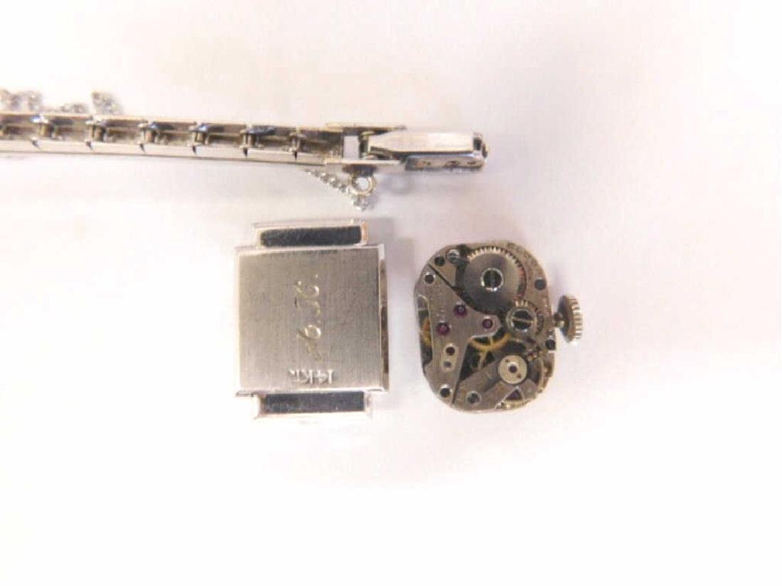 14K WG Diamond Wristwatch - 3