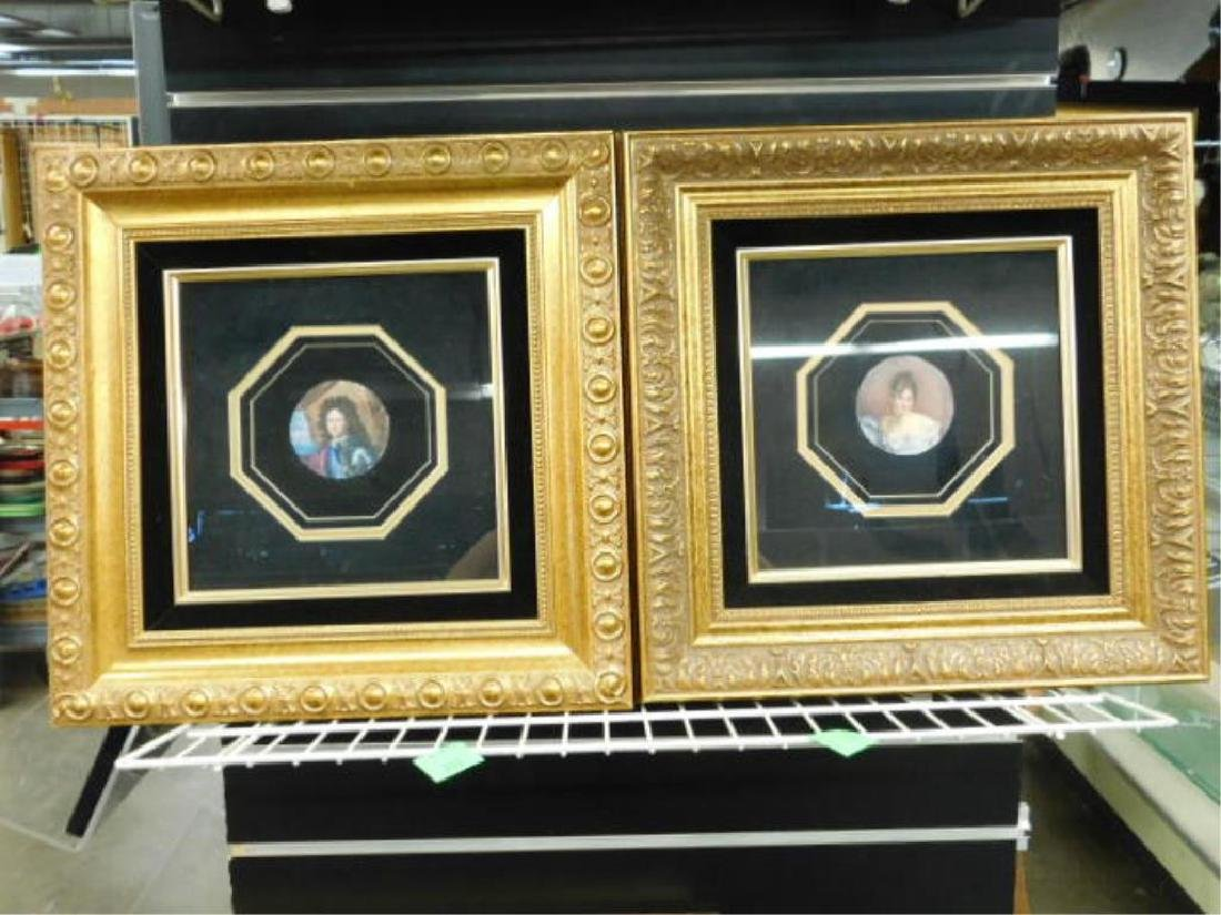 2 19th C Miniature Portrait Paintings