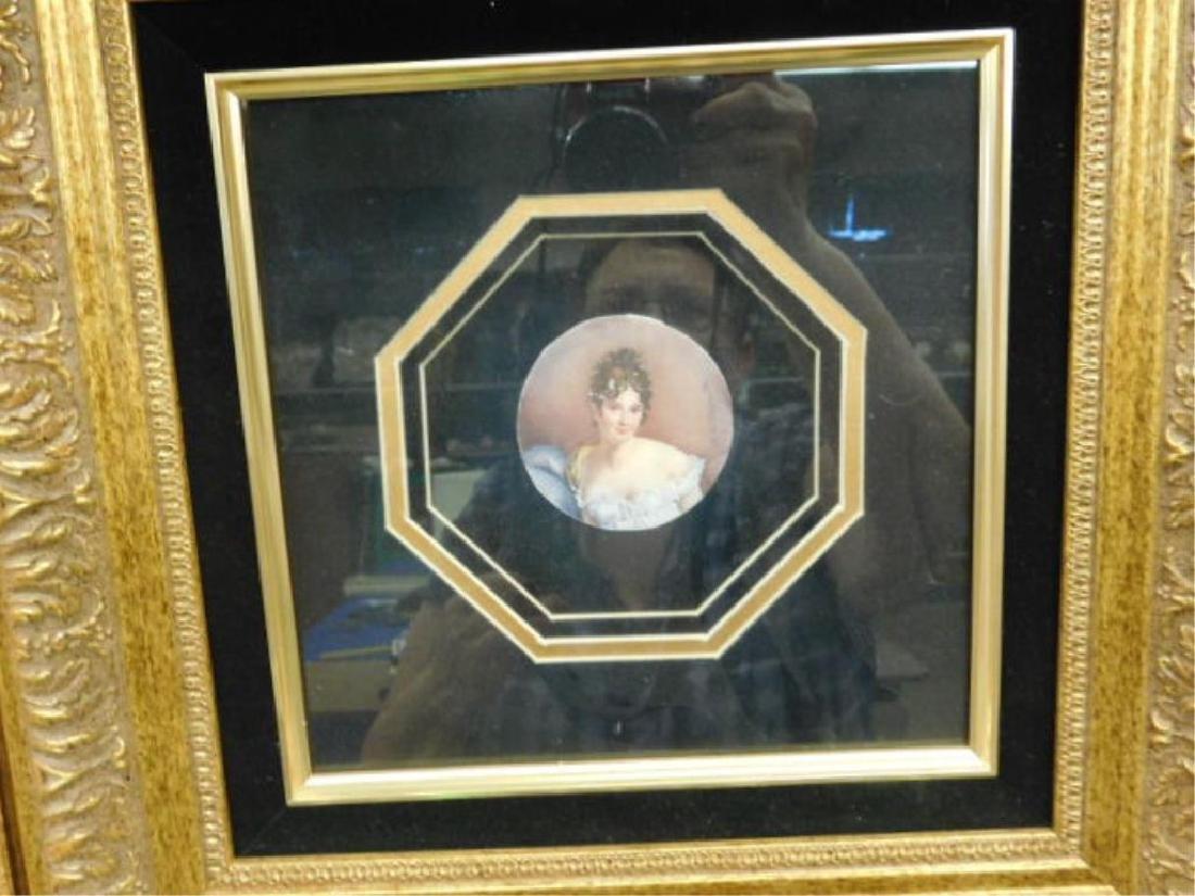 2 19th C Miniature Portrait Paintings - 3
