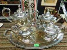 Reed  Barton Silverplate Tea Set