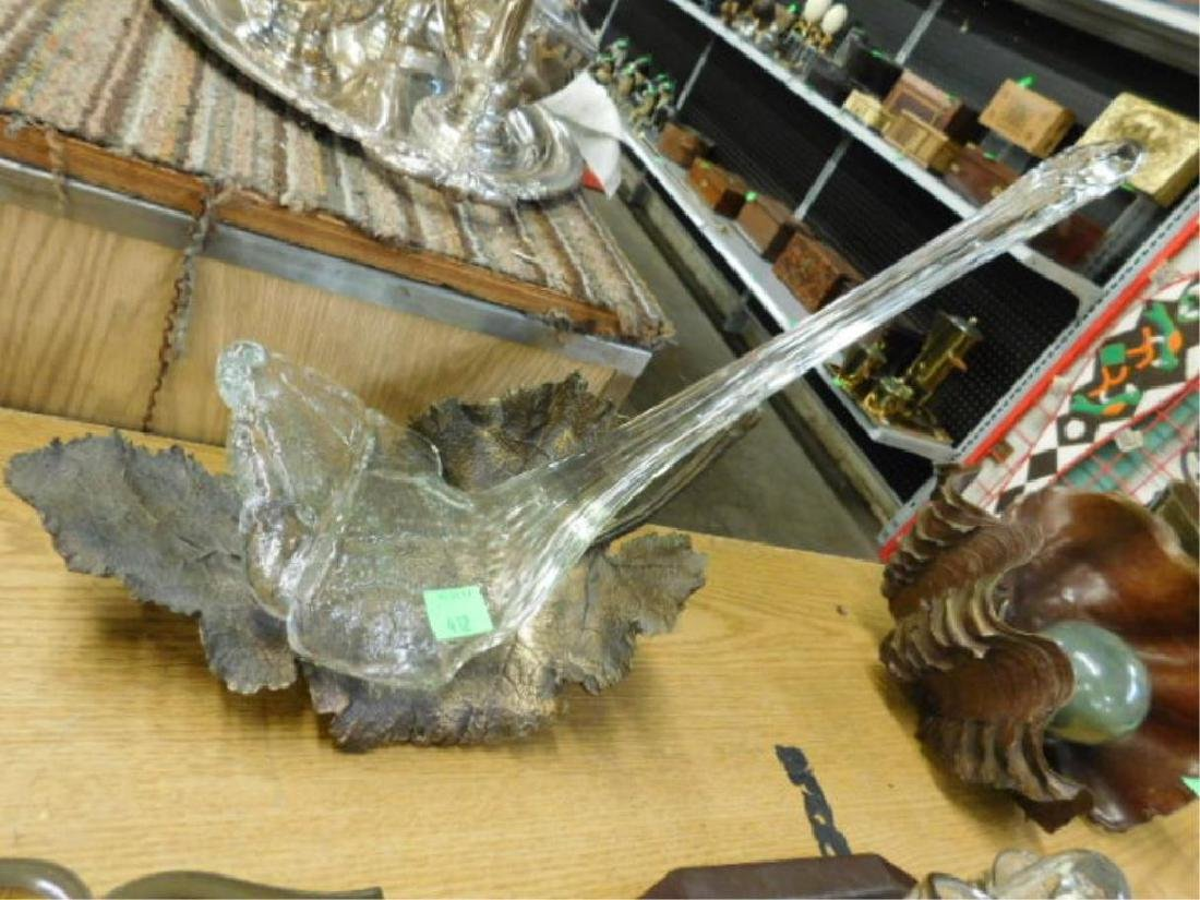 Daisoke Shintani Bronze & Glass Sculpture