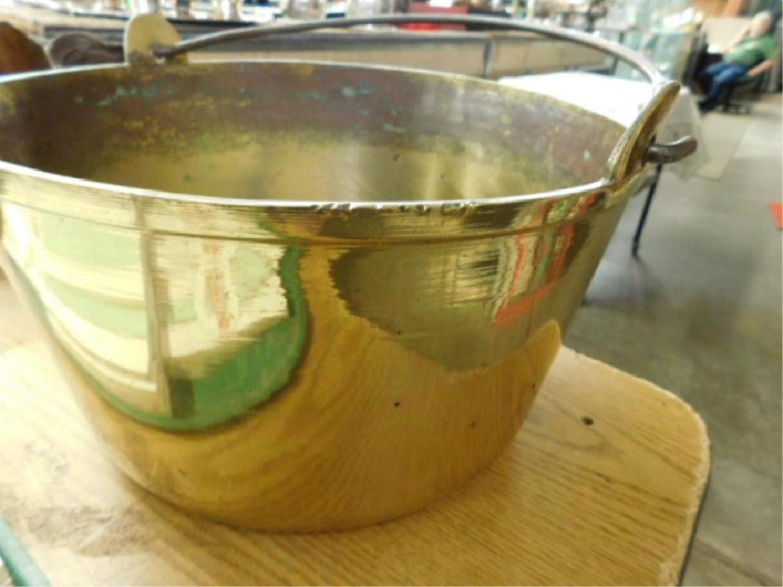 Antique Brass Apple Butter Bucket - 2