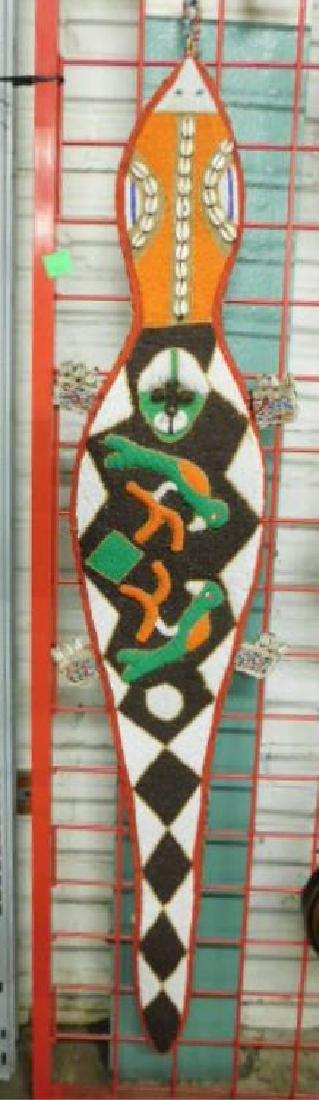 Yaruba Beaded Lizard Wall Hanging