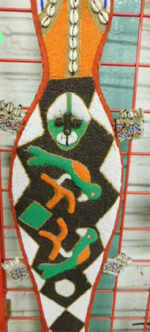 Yaruba Beaded Lizard Wall Hanging - 2