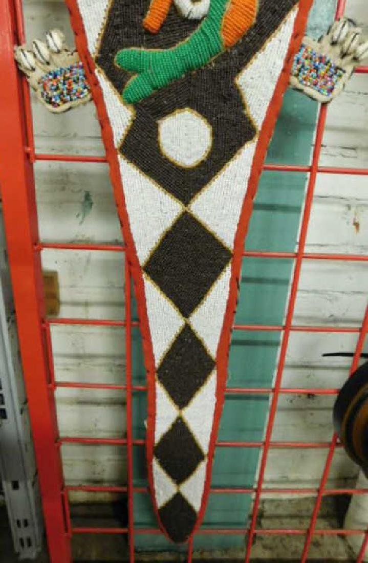 Yaruba Beaded Lizard Wall Hanging - 4