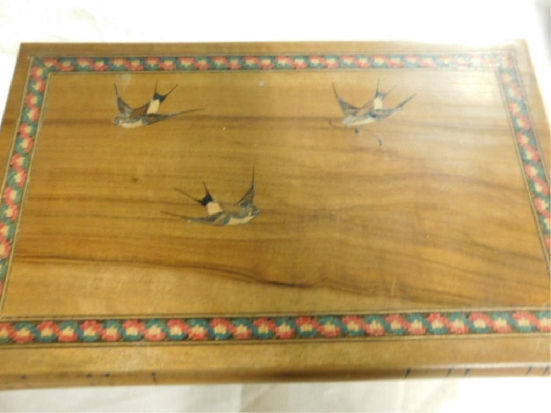 Italian Olive Wood Jewelry Box - 2