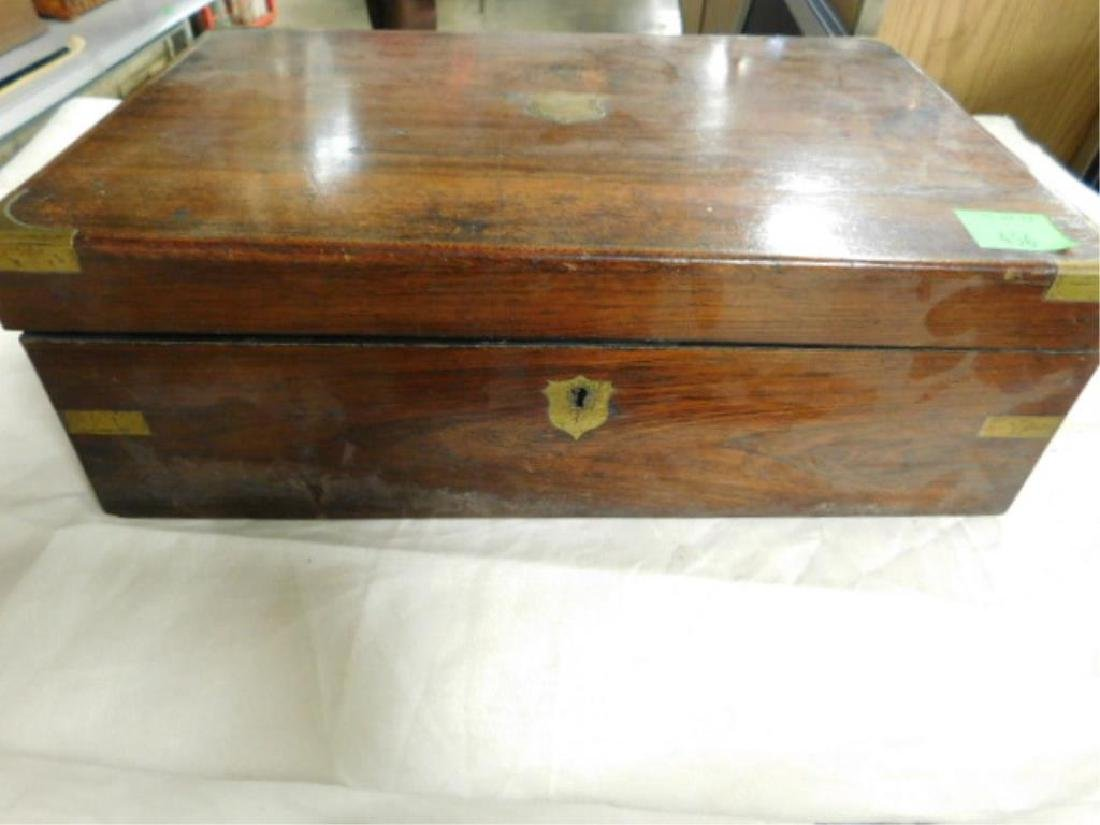 19th c. Crotched Walnut Lap Box