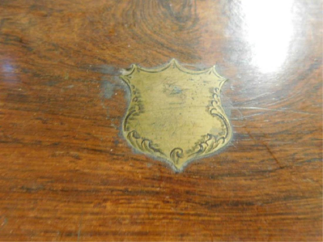 19th c. Crotched Walnut Lap Box - 2