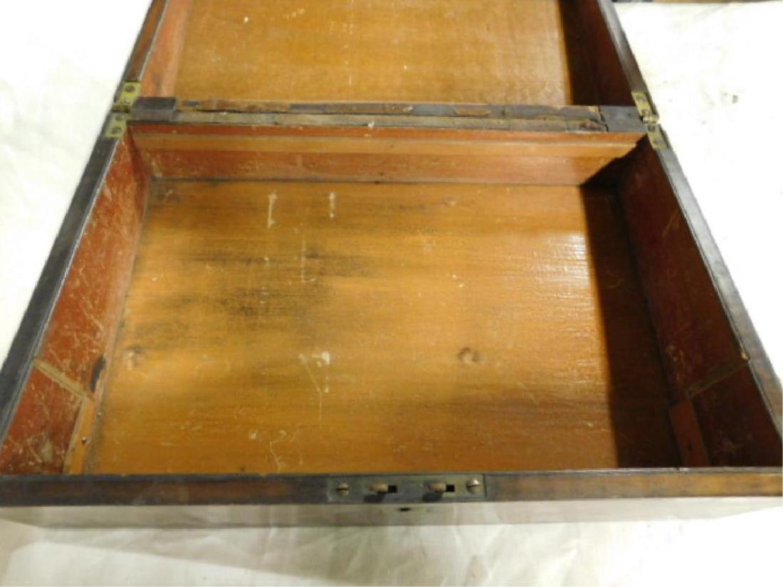 19th c. Crotched Walnut Lap Box - 3