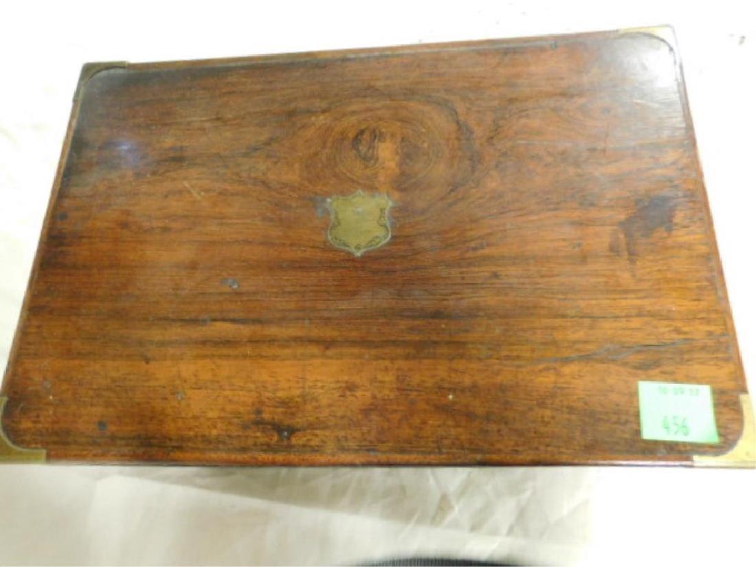 19th c. Crotched Walnut Lap Box - 4