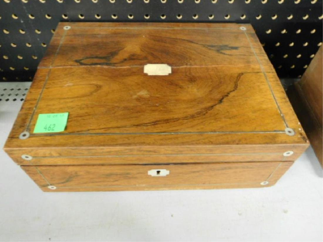 19th c. Rosewood Lap Desk Box