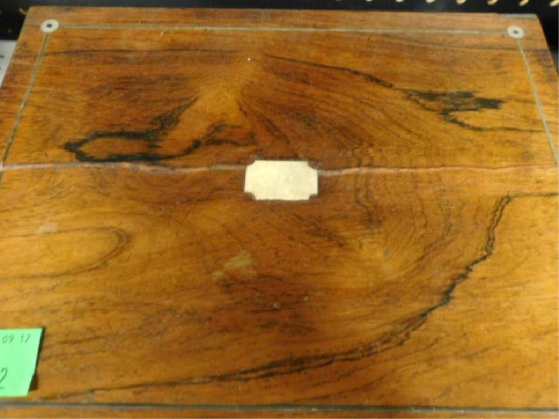 19th c. Rosewood Lap Desk Box - 3