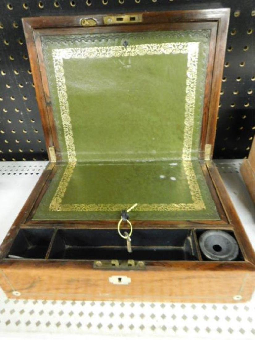 19th c. Rosewood Lap Desk Box - 4