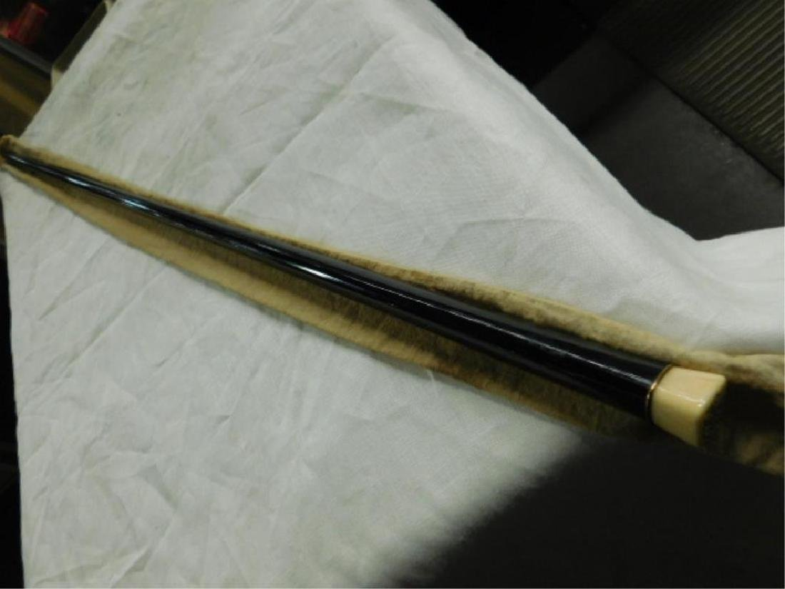 Antique Ebonized Wood Walking Stick