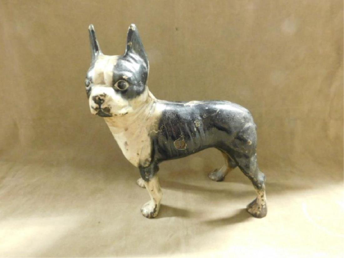 Cast Iron Boston Terrier Doorstop