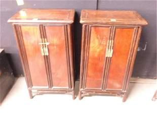 Pr Oriental Cabinets