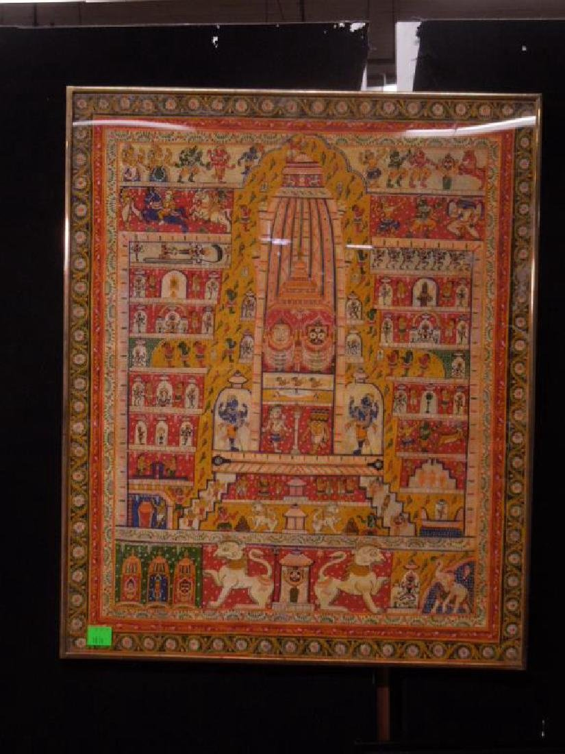 19th C. Indian Cloth Temple Hanging - 2
