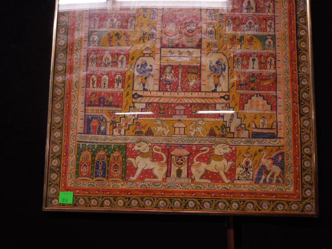 19th C. Indian Cloth Temple Hanging - 3