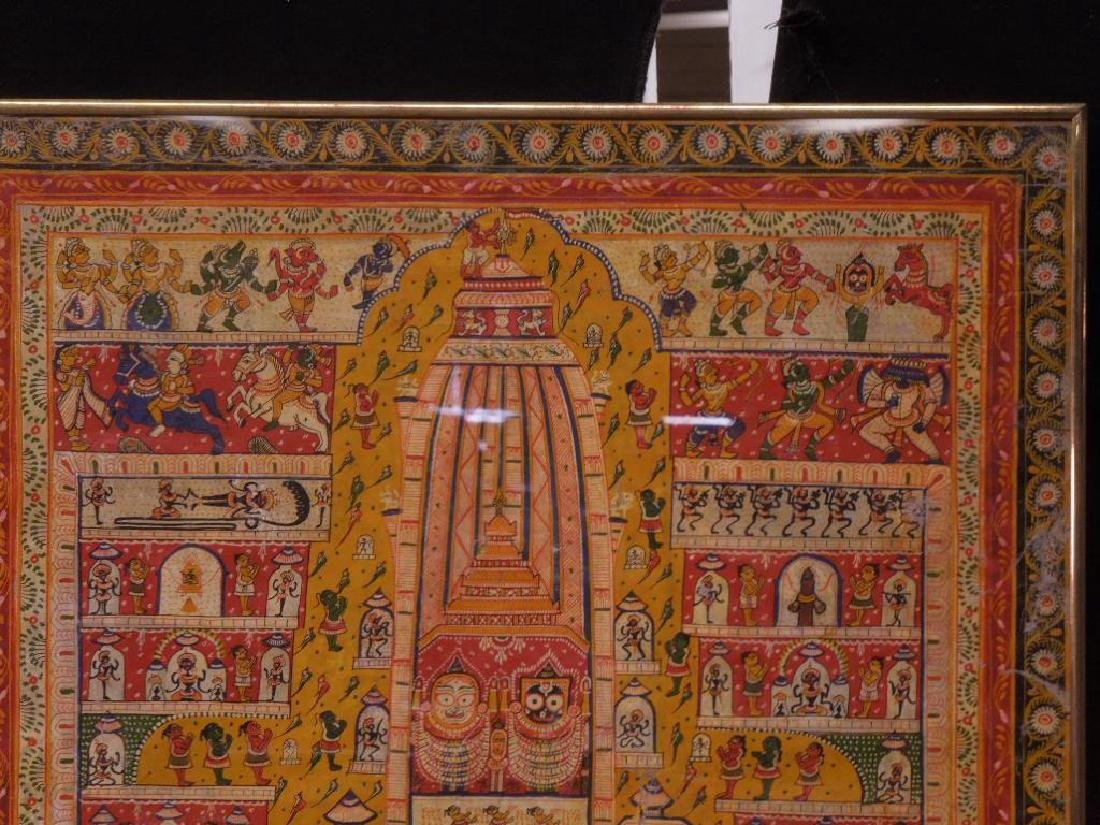 19th C. Indian Cloth Temple Hanging - 4