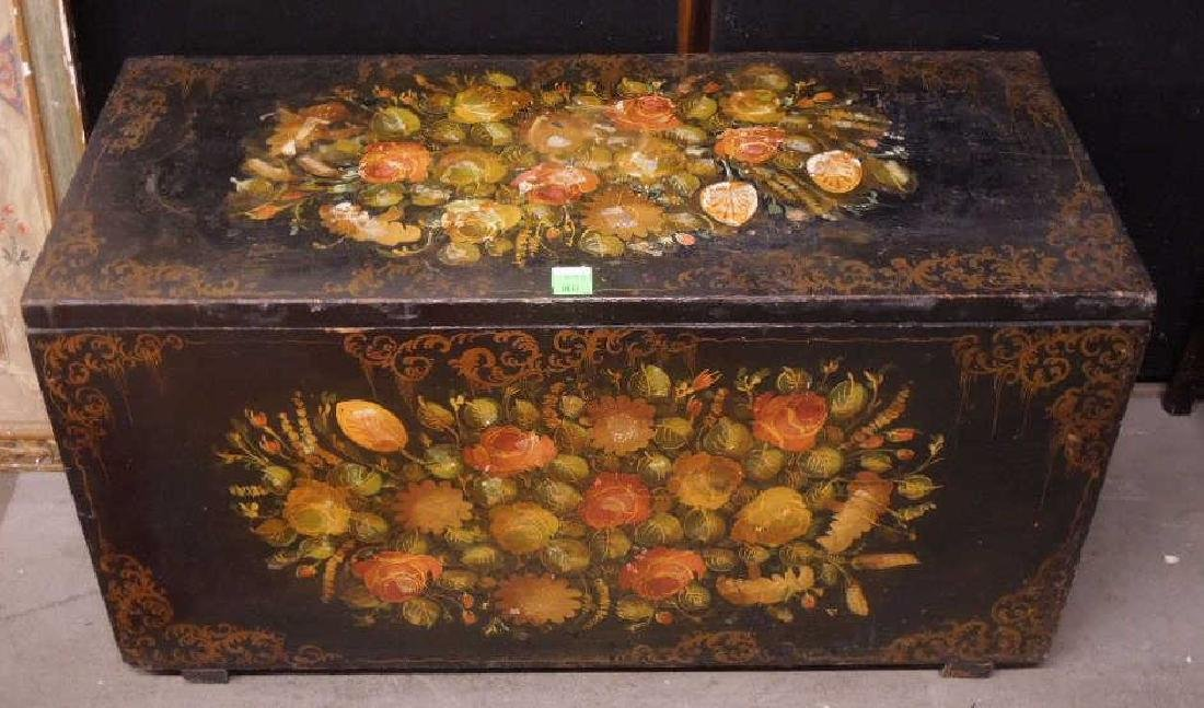 Victorian Decorated Blanket Chest
