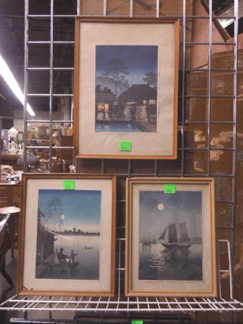 3 Signed Japanese Woodblock Prints