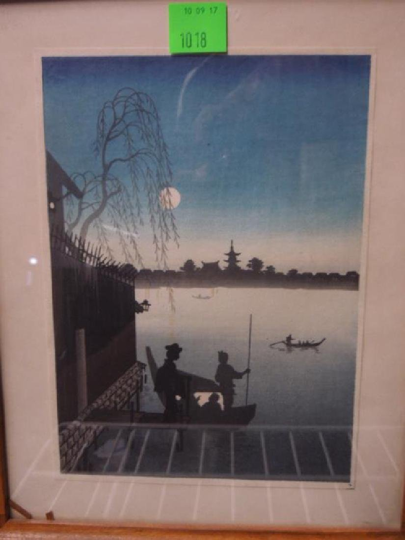 3 Signed Japanese Woodblock Prints - 2