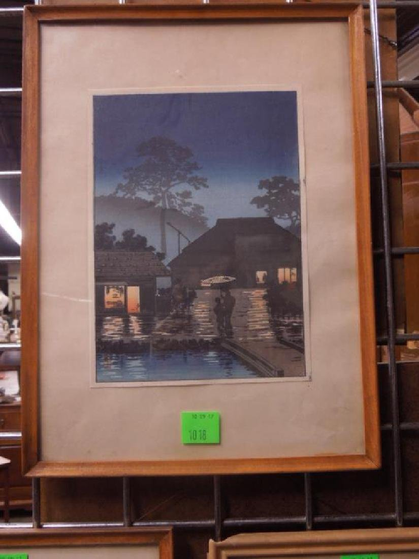 3 Signed Japanese Woodblock Prints - 4