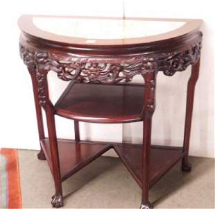 Chinese Demi Lune Console Table