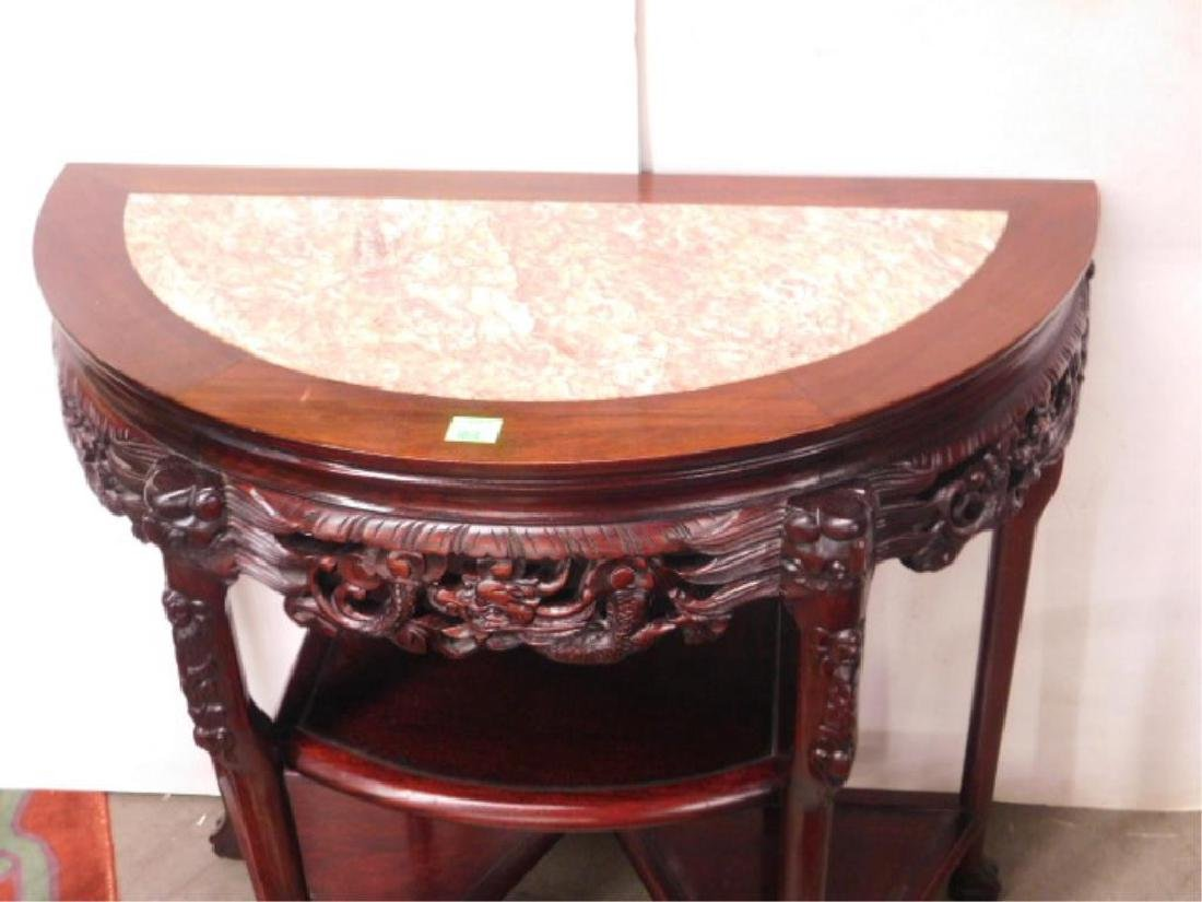 Chinese Demi Lune Console Table - 2