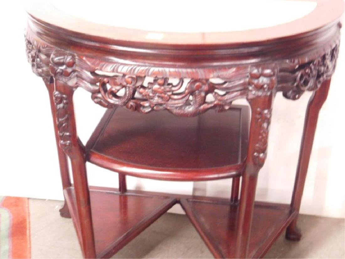 Chinese Demi Lune Console Table - 3