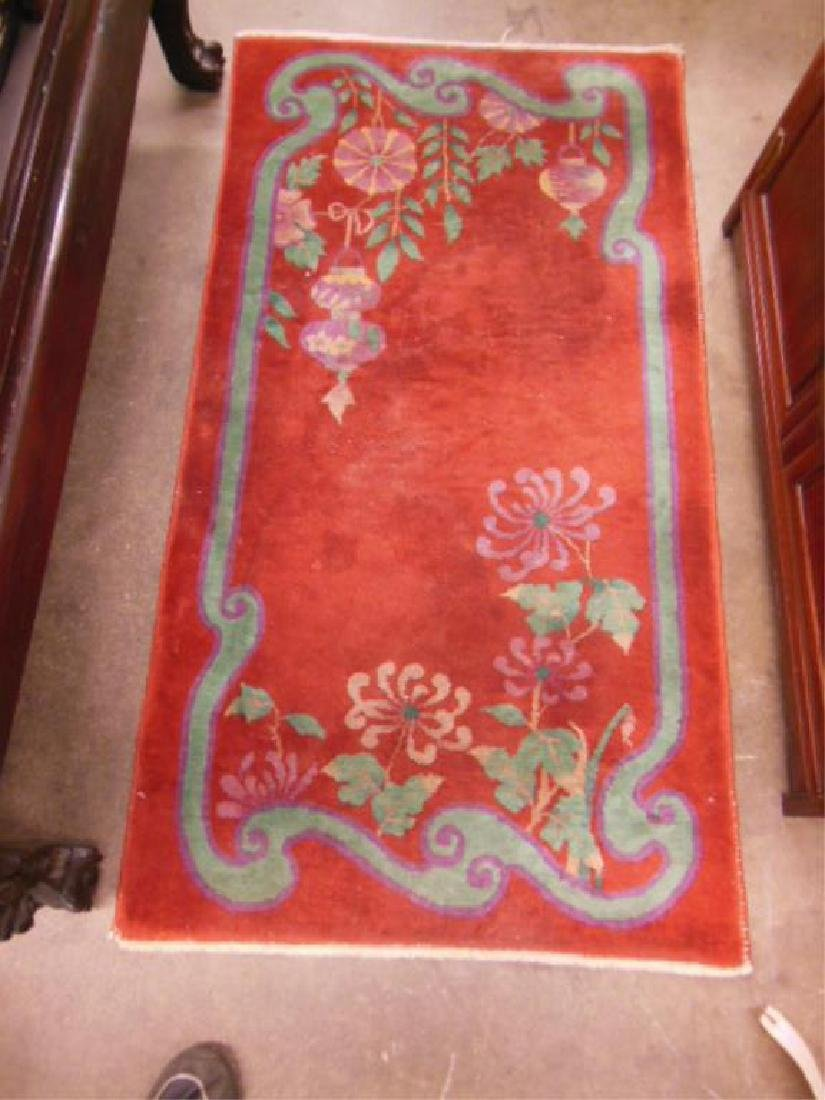 Chinese Art Deco Throw Rug